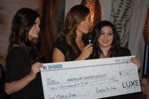 Luxe Donates $1,000 to Making Strides/Team La