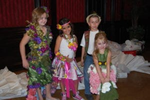 NACE Models -- all in dresses made from flowers