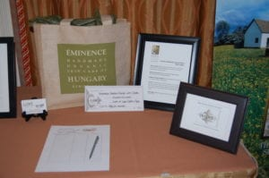Eminence gift with Luxe services for silent auction.
