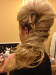 This 70s-inspired updo was SO fun! Good job Danielle!