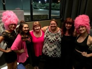 The Beehive Girls along with Danielle, Darlene and Deb from Luxe and Holly from Don't be a Chump!